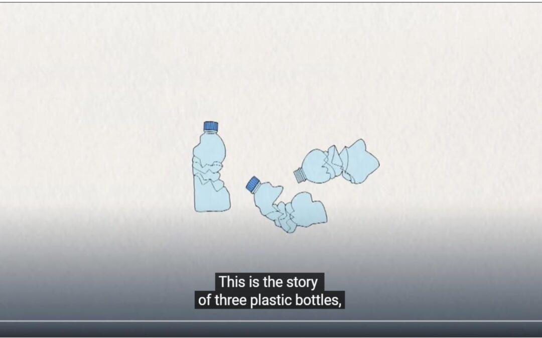 Il viaggio di una bottiglia di plastica